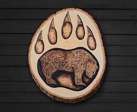 wood burning patterns bear   paint