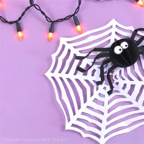 How To Make A Spiderweb Out Of Paper - easy paper spider web craft for ted s