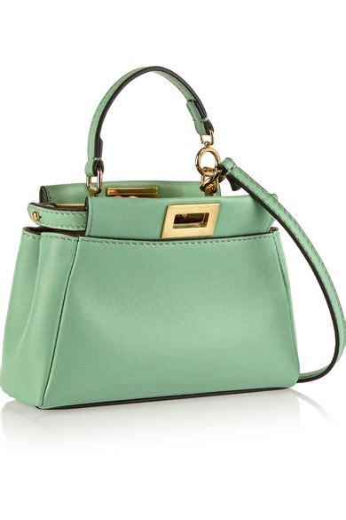 Whips Out The Fendi Purse Again by Fendi Peekaboo Micro Leather Shoulder Bag Net A Porter