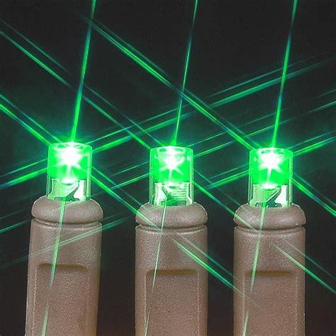 brown wire wide angle green 50 bulb led christmas lights