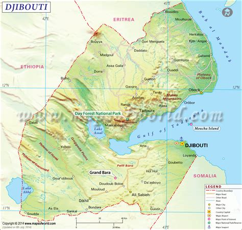 us map with states cities and highways djibouti map