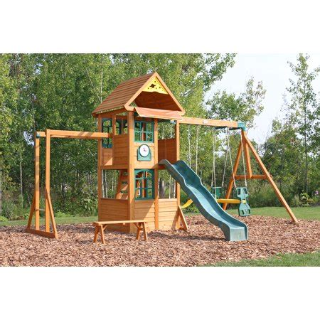 big backyard by kidkraft halliwell swing set walmart