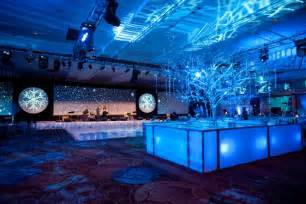 Snowflake Table Linens - for a winter themed corporate party design director andrew zill of baltimore based feats inc