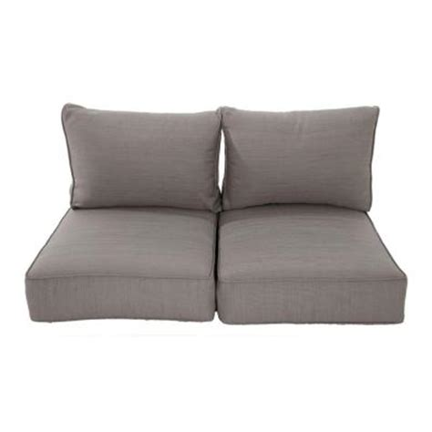replacement loveseat cushions naples grey replacement outdoor loveseat cushion