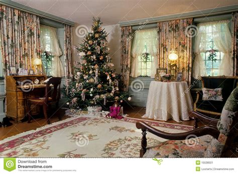 Christmas Decorations Presents That Light Up by Victorian Christmas Living Room Decorations Stock Image