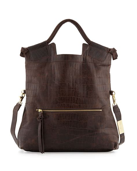 Foley And Corinna City Tote by Foley Corinna Foley Corinna Mid City Crocembossed