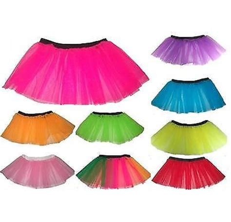 1980s colors neon uv tutu skirt many colours 1980s fancy dress 8 14 ebay
