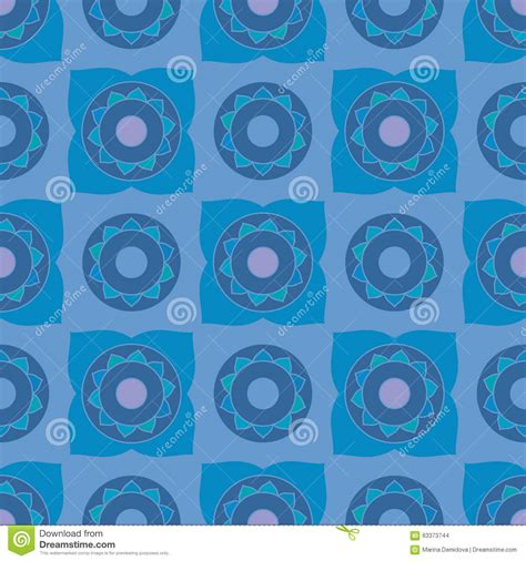 vector seamless pattern abstract background with round ethnic oriental geometric seamless pattern stock vector