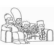 Colorear Los Simpson 34  Dibujo Para