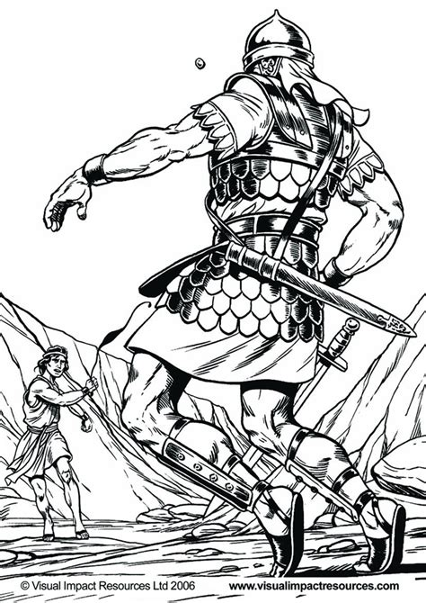 free coloring pages of david and goliath