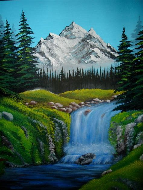 bob ross painting a waterfall bob ross bob ross paintings