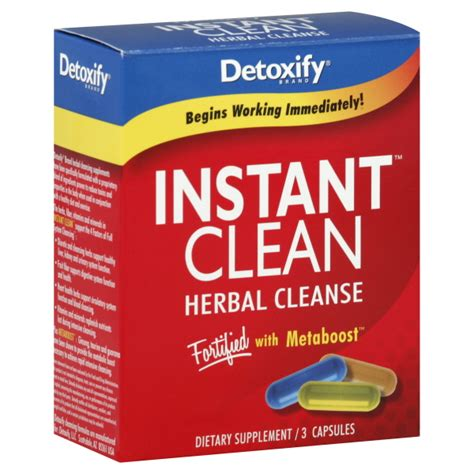 Herb Detox Vitamin C by Detoxify Llc Instant Clean 3 Capsules Health Wellness