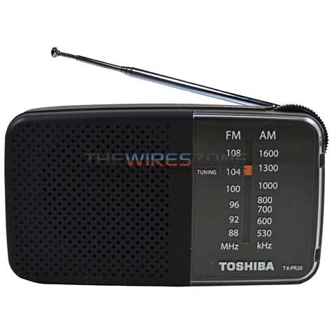 Radio Toshiba Tx Pr20 toshiba tx pr20 black am fm pocket portable battery