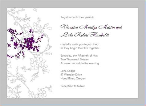 printable wedding invitation templates for word yaseen for