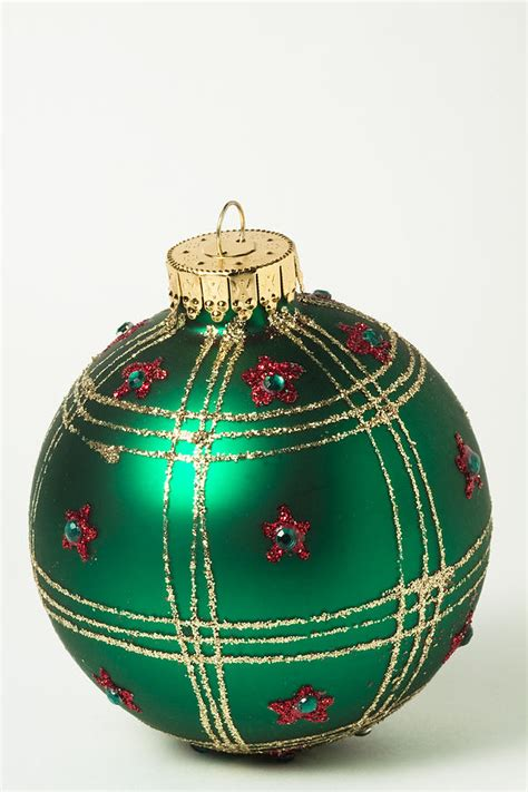 christmas ball ornament green gold 1 photograph by john