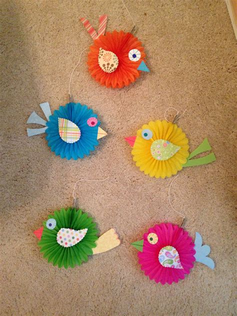 Craft Paper Bird - made these boho birds to match the classroom bulletin