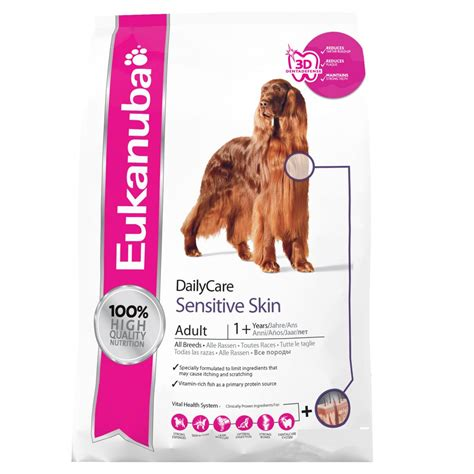 food for sensitive skin eukanuba daily care sensitive skin with chicken 2 3kg feedem