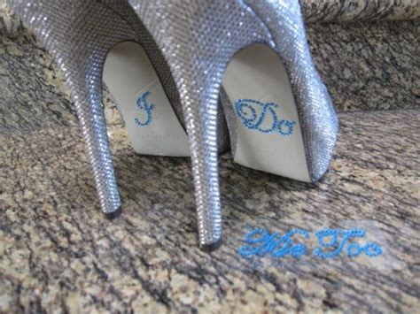 Hochzeit Schuhe Help Me by Something Blue Quot I Do Quot And Quot Me Quot Wedding Shoe Stickers