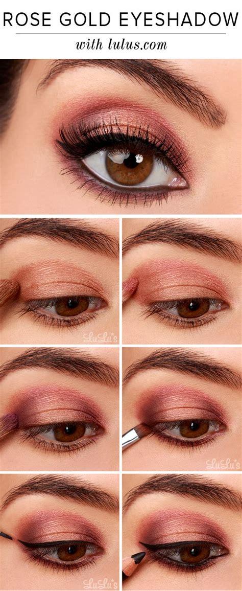 eyeshadow tutorial drugstore rose gold picmia