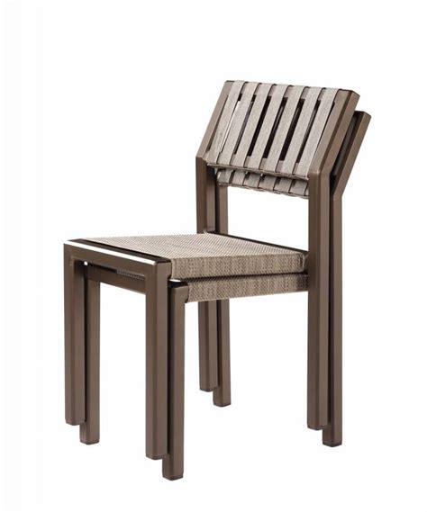 Armless Dining Chairs Outdoor Armless Dining Chair