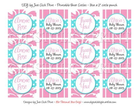 free printable favor tags for baby shower blue pink damask baby shower favor tags cupcake