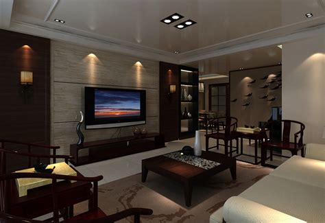 Living Room Tv by Living Room With Tv On Wall 3d House