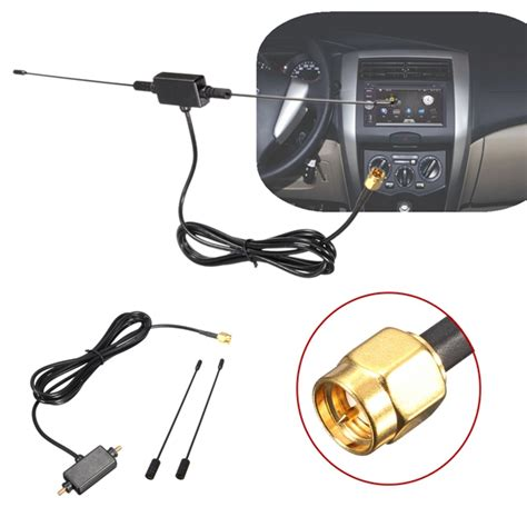 5ft in car radio digital tv antenna with lifier dvb t isdb t 433mhz signal antenna alexnld