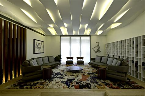 Living Room Lighting India Sophisticated Indian Apartment With Woven Staircase