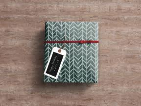 Wrapped Gift Box   MockupWorld