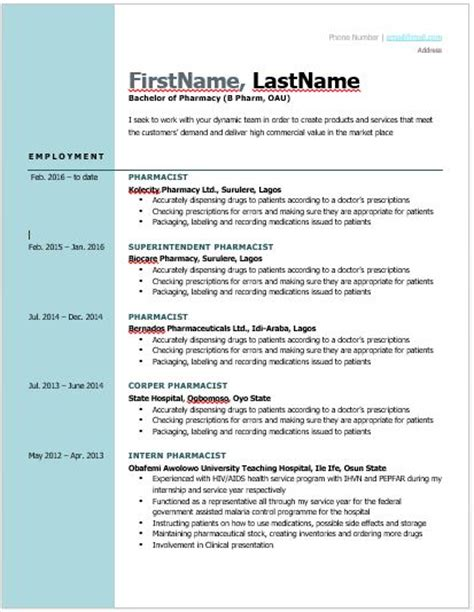 Best Job Resume Examples by Best Free Cv Formats To Make You Stand Out To Employers