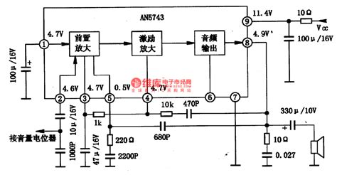 integrated circuit power lifier an5743 audio prelifier and power lifier integrated circuit lifier circuit circuit