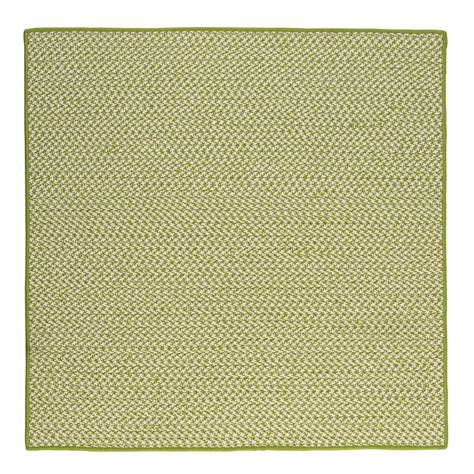Home Depot Outdoor Rugs Home Decorators Collection Lime 4 Ft X 4 Ft Indoor Outdoor Braided Area Rug