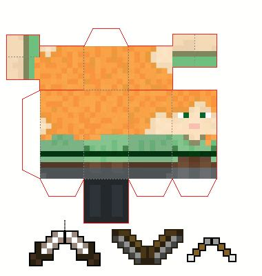 Minecraft Papercraft New - papercraft mini alex