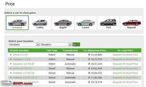 skoda octavia on road price in delhi skoda octavia official review page 7 team bhp