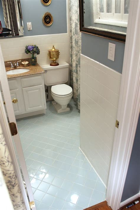 how to paint a tile floor bathroom quick and easy bathroom tile refresh hgtv design blog