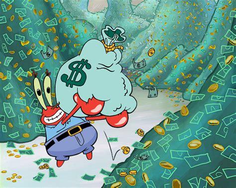 Galerry spongebob mr krabs money