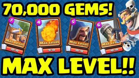 Clash Of Clans Gift Card Code - clash royale 70 000 gems maxing cards clash of clans guide and strategy