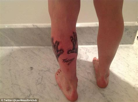 lionel messi tattoo mother lionel messi gets tattoo dedicated to barcelona superstar