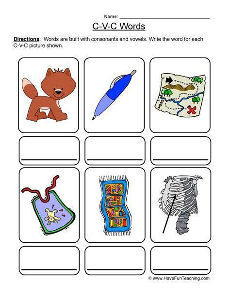 Cvc Worksheets by Cvc Worksheets Teaching