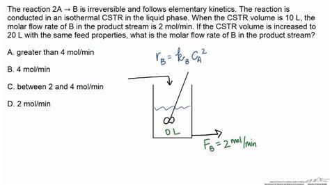 design effect equation cstr material balance effect of increasing volume on