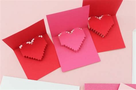 valentines cards templates 3d 18 3d diy s day cards that will make cupid