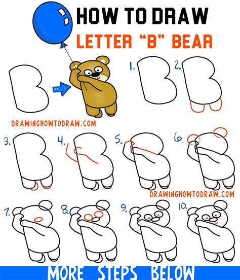 Drawing B Letter by How To Draw A Holding A Balloon Floating Up
