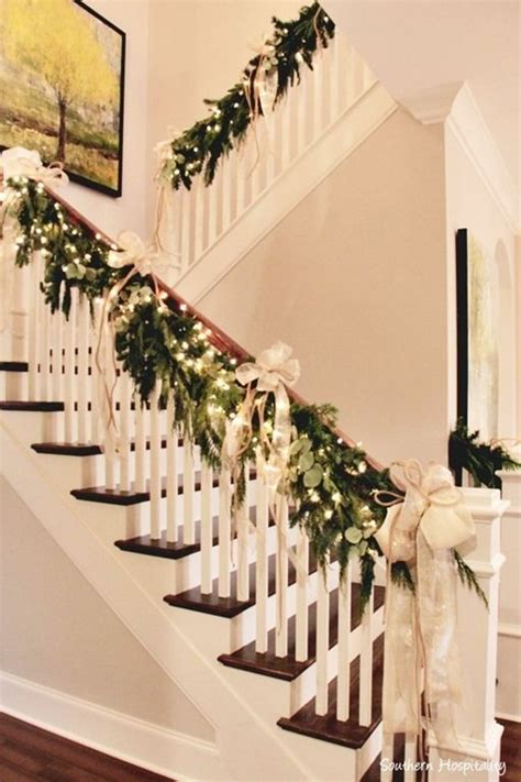 garland for staircase with lights best 25 staircase decor ideas on
