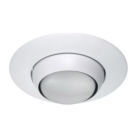 Eyeball Lighting Fixtures Nicor 6 In White Recessed Eyeball Trim 17506wh The Home Depot