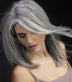 beautiful gray hair streaks 50 gorgeous hairstyles for gray hair