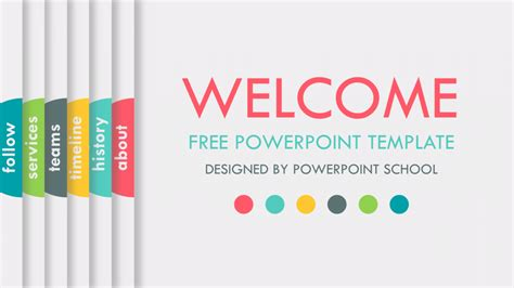 Free Animated Powerpoint Presentation Slide Powerpoint School Slide Presentation Template Free