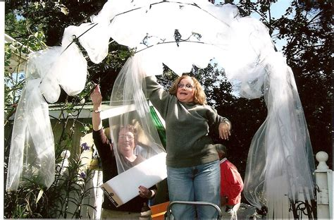 Wedding Arbor With Tulle by The Wedding Raising Implementation