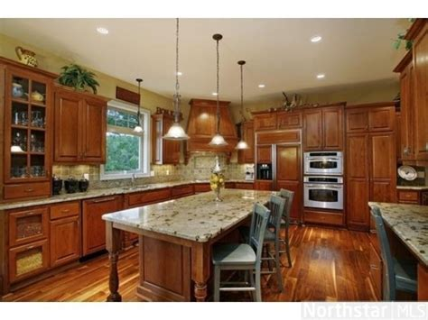granite with cherry cabinets in kitchens huge gourmet kitchen with cherry cabinets and granite