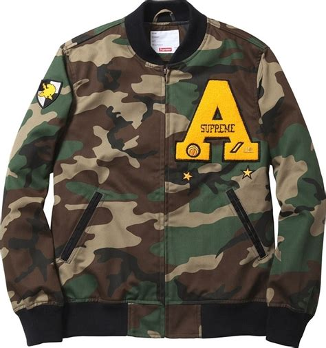 Jaket Hoodie Supreme Camo Jaket Army Supreme Army Hoodie Murah supreme cadet varsity jacket custom ideas
