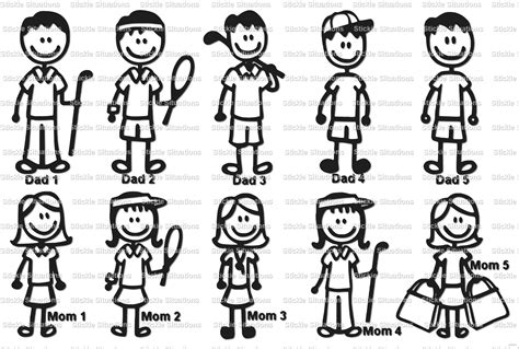 Sticker Cutting Grup Band stick family car decal on storenvy